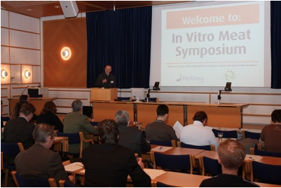 Photo of a presentation at the symposium