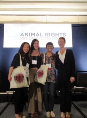 Group photo of Isha Datar, Natalie Rubio, Erin Kim, and Sherrie Tullsen-Chin
