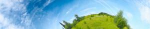Panoramic photo of meadow