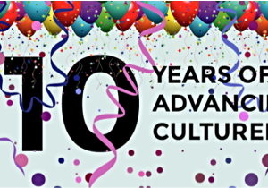 Banner that says '10 years of advancing cultured meat!'