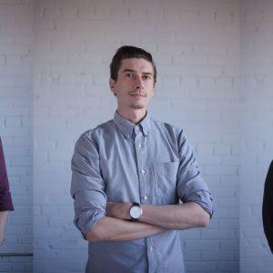 Head shots of Symon, Bohan, and Tucker