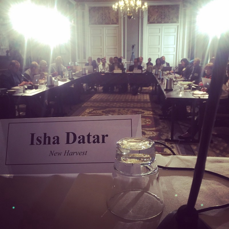 picture of Isha's name plate at the table
