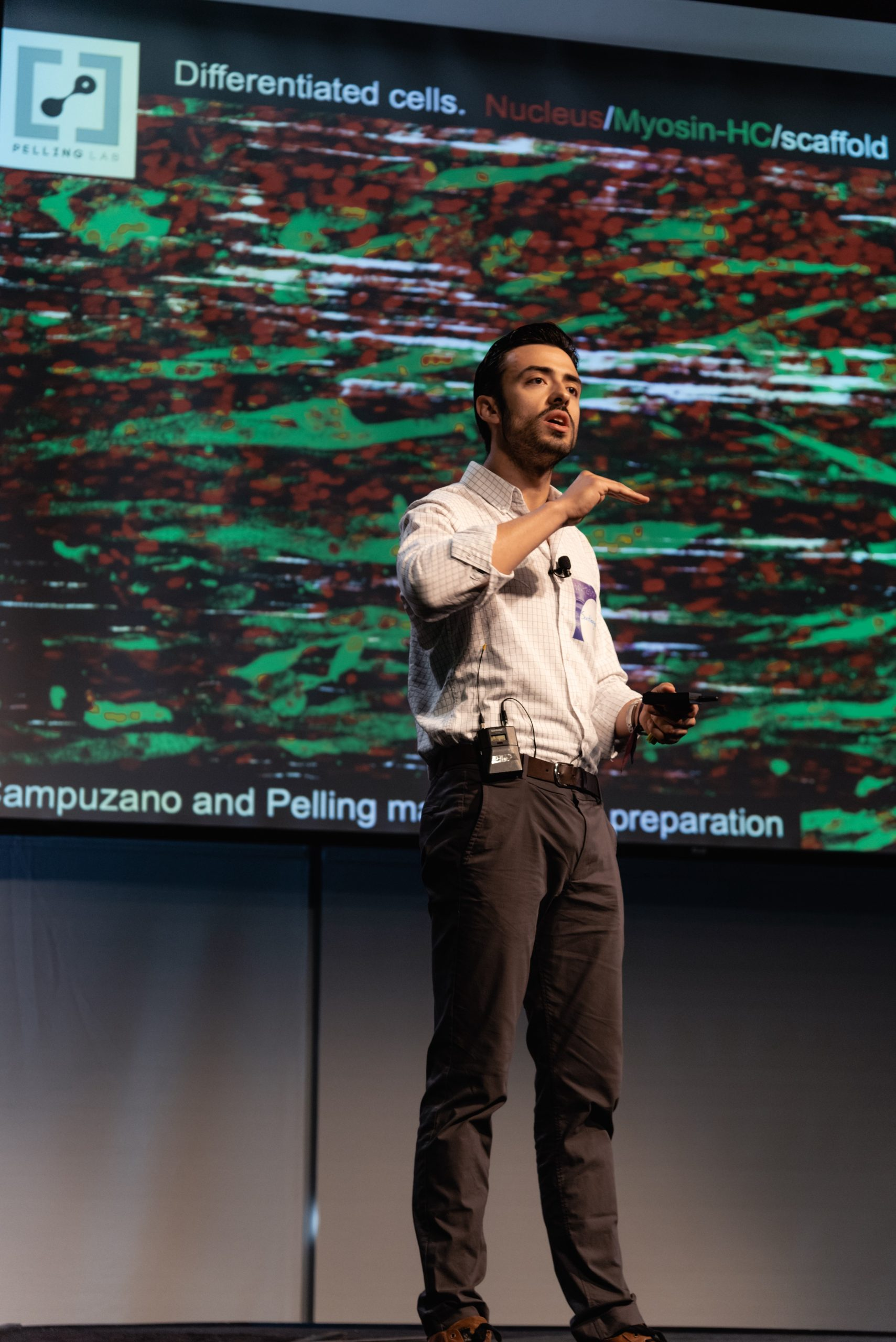 Santagio talking at the New Harvest 2019 conference