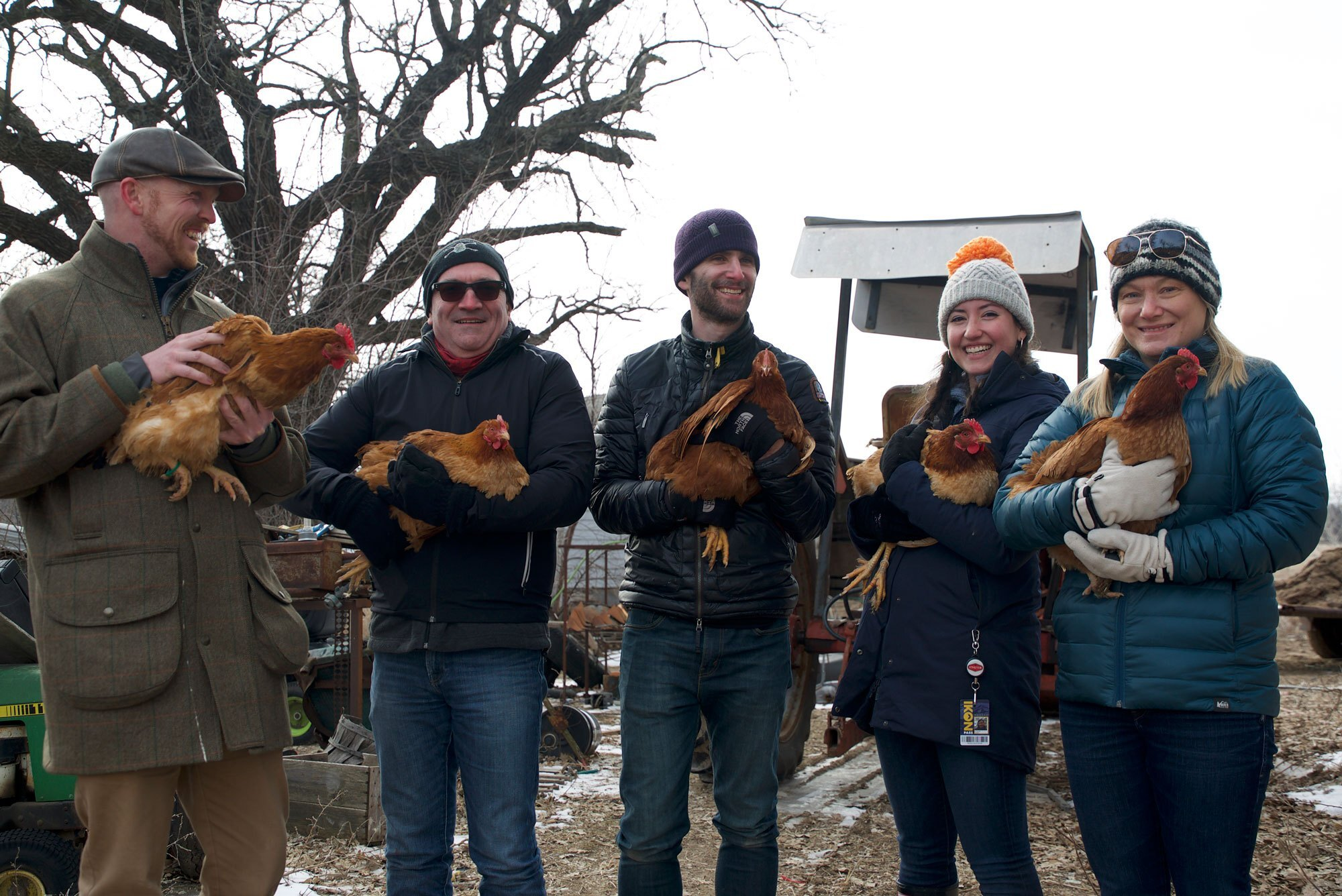 Bond Pets team with chickens