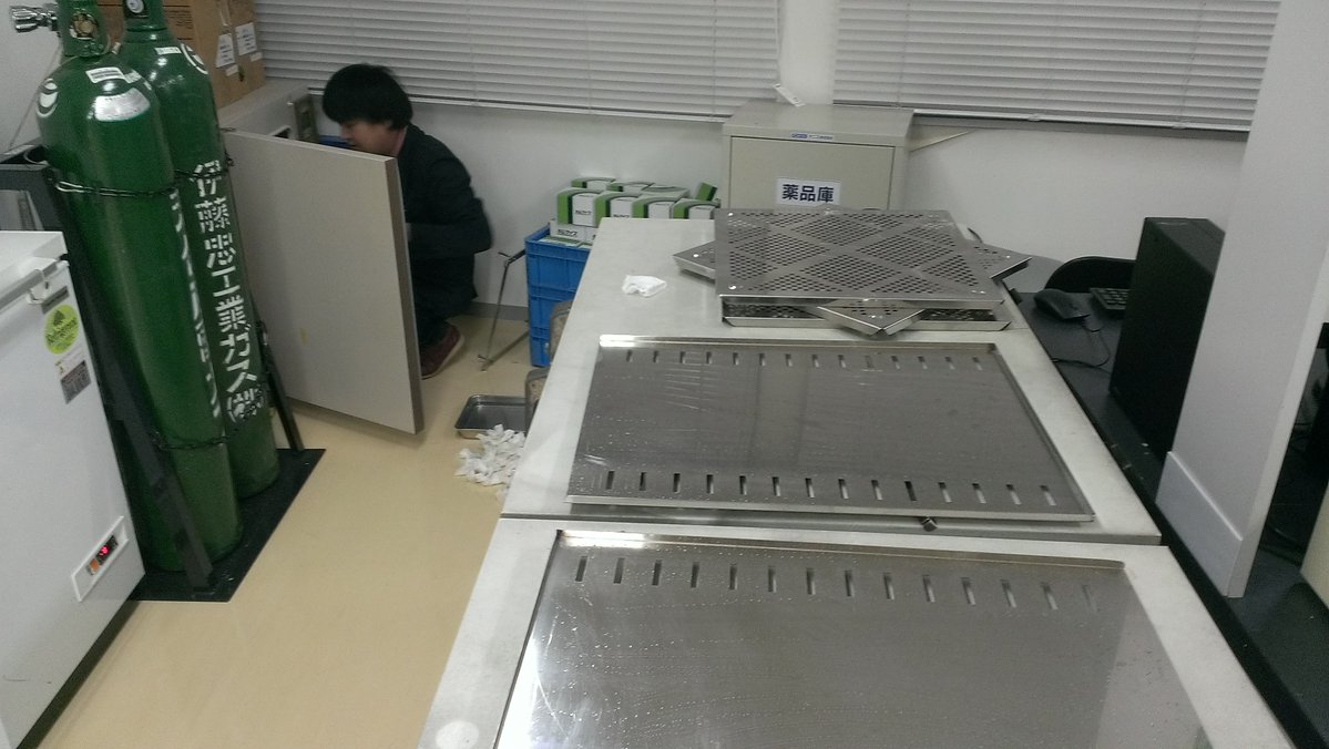 Shojinmeat team member cleans CO2 incubator