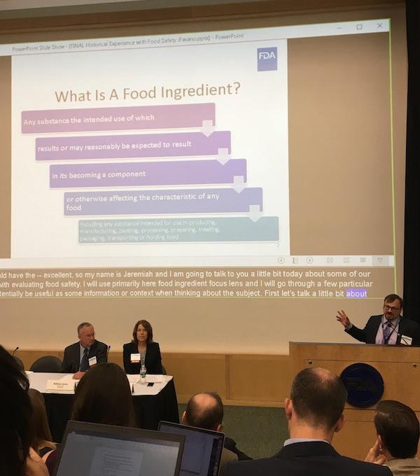 During the FDA Presentation slide show