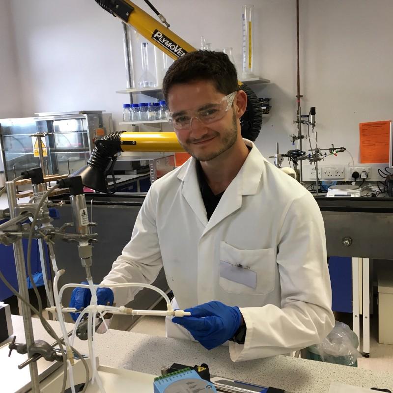 Scott Allan in the lab