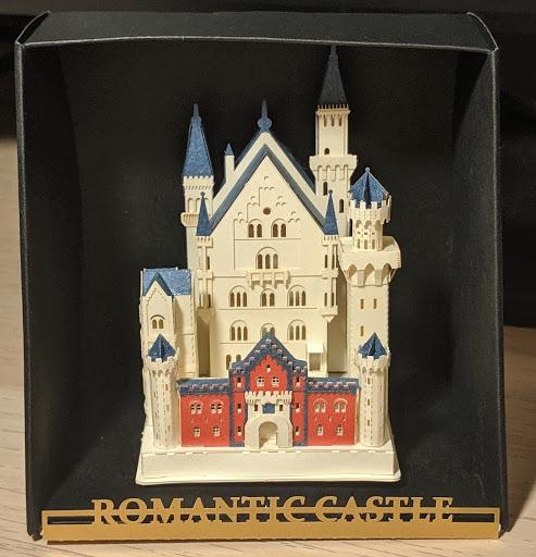 a tiny model castle built by Alexis