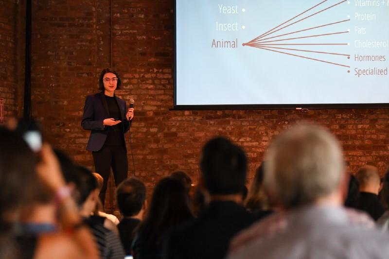 Kate Kruger presenting at New Harvest 2017