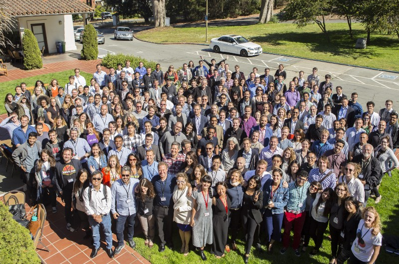 Conference attendee group photo