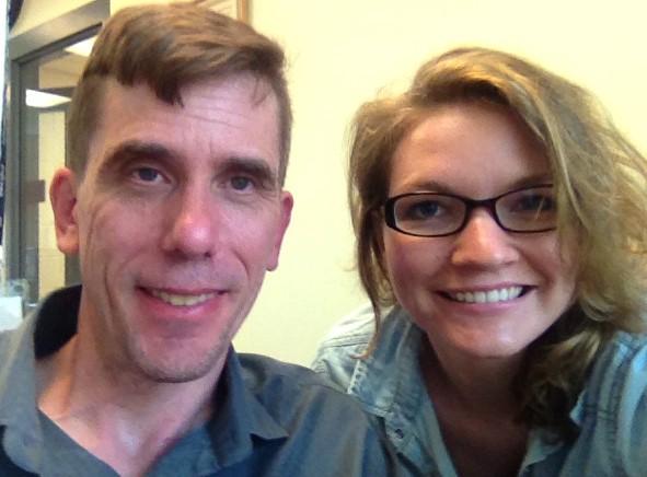 Marie Gibbons and Dr. Paul Mozdziak