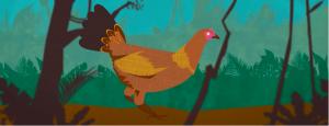 Derek Lau animated chicken