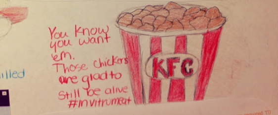 KFC cultured meat drawing