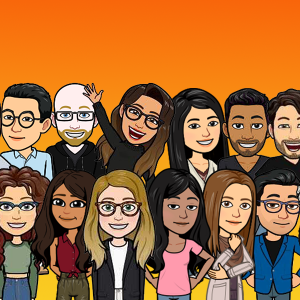 bitmojis of all active New Harvest grantees as of 2021
