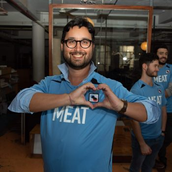 Ricardo at New Harvest's 2019 lab meet in Brooklyn.